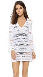 Milly Mykonos Crochet Tunic White