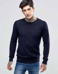 Scotch And Soda Jumper With Crew Neck Cotton In Navy Night Navy Night