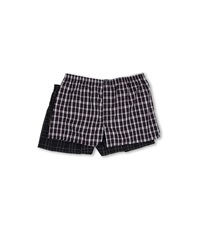 Jockey Big Man Classic Full Cut Blended Boxer 2 Pack Navy Kennedy Navy Tartan Men's Underwear Black