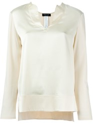 Twin Set Long Sleeve Plain Top Nude And Neutrals