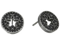 Marc Jacobs Pave Star Studs Earrings Jet Antique Silver Earring