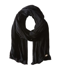 Cole Haan Feather Weight Jersey Oversized Scarf Black Scarves