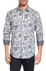 Bugatchi Men's Shaped Fit Graphic Sport Shirt