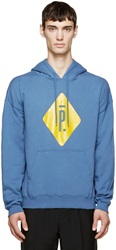 Pigalle Blue And Yellow Logo Hoodie