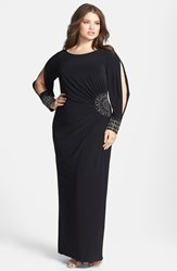 Xscape Evenings Plus Size Women's Xscape Embellished Stretch Jersey Long Dress