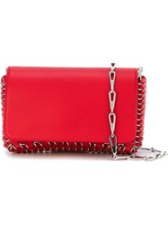 Paco Rabanne Chainmail Detail Crossbody Bag Red