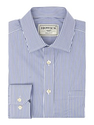 Howick Arvin Strpe Shirt With Classic Collar Blue