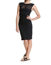 Tracy Reese Inset T Dress Black
