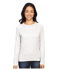 Spyder Blayze Top Cirrus Washed Print Women's Long Sleeve Pullover White