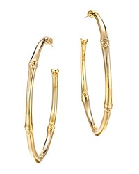 John Hardy Bamboo 18K Yellow Gold Large Hoop Earrings