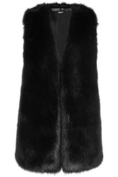 Dkny Faux Fur Vest Black