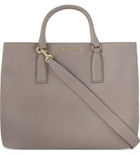 Kurt Geiger London Chelsea Saffiano Leather Tote Taupe