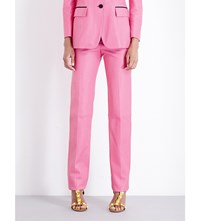 Gucci Tapered Leather Tuxedo Trousers Pink