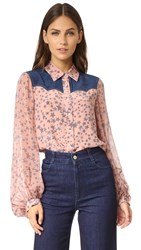 Bcbgmaxazria Madison Shirt Pink Flush Combo