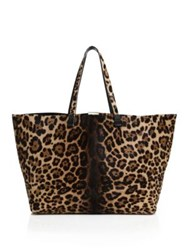 Victoria Beckham Simple Shopper Leopard Print Calf Hair Tote