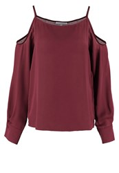 Mintandberry Blouse Windsor Wine Dark Red