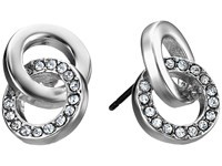 Kate Spade Infinity Beyond Studs Earrings Clear Silver Earring