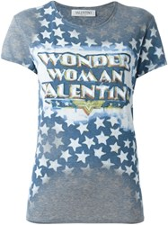 Valentino Wonder Woman T Shirt Grey