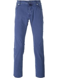 Jacob Cohen Slim Fit Chinos Blue
