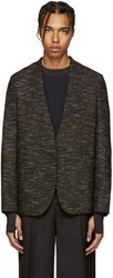 Maison Martin Margiela Black Deconstructed Tweed Blazer