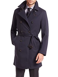 Pal Zileri Double Breasted Car Coat Blue