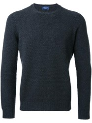 Drumohr Crew Neck Jumper Black