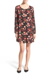 One Clothing Floral Print Shift Dress Black