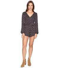Billabong Picture Perfect Romper Off Black Women's Jumpsuit And Rompers One Piece