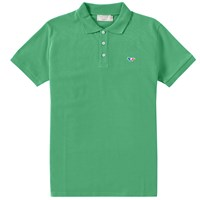 Maison Kitsune Tricolour Fox Polo Green