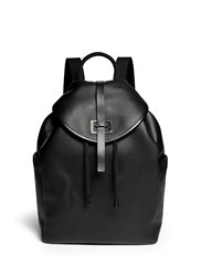 Alexander Mcqueen Perforated Skull Leather Backpack Black