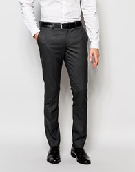 Selected Homme Skinny Pinstripe Wedding Suit Trousers With Stretch Grey