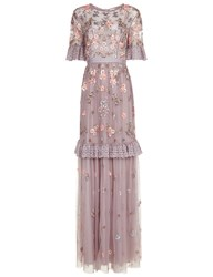 Needle And Thread Lavender Tulle Ditsy Scatter Gown Pink
