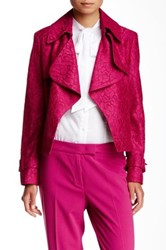 Anne Klein Lace Trench Jacket Pink