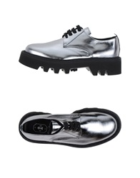 Bruno Bordese Lace Up Shoes Silver