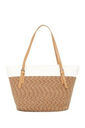 Magid Two Tone Large Tote White