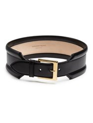 Alexander Mcqueen Classid Wide Leather Belt Black