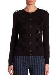 Marc Jacobs Sequin Checkered Cardigan Black