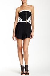 Wow Couture Black And White Strapless Romper
