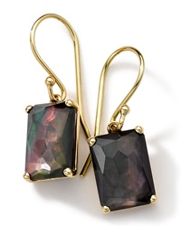Ippolita 18K Gold Rock Candy Gelato Black Shell Earrings