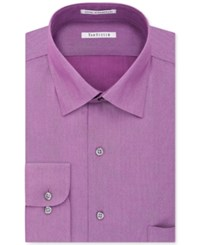 Van Heusen Men's Classic Fit Wrinkle Resistant Herringbone Dress Shirt Light Pink