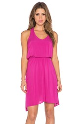 Splendid Asymmetrical Mini Dress Pink