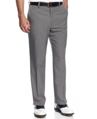 Greg Norman For Tasso Elba 5 Iron Slim Fit Golf Pants Grey Asphalt