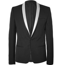 Haider Ackermann Black Slim Fit Wool Tuxedo Jacket Black