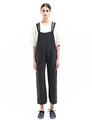 New Season Marvielab Womens Cotton And Linen Pocketed Overalls