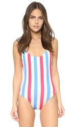 Solid And Striped Anne Marie Swimsuit Americana Stripe