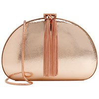 Ted Baker Hartly Glitter Clutch Rose Gold