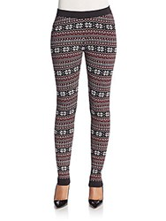 Romeo And Juliet Couture Fair Isle Print Leggings Red Multi