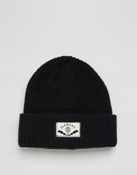 Element Beanie In Waffle Knit Black