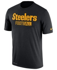 Nike Men's Pittsburgh Steelers All Football Legend T Shirt Black