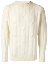 Drumohr Vintage Cable Knit Sweater White
